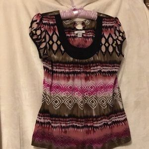 Dress Barn Pink Print Top